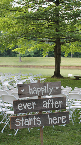 Lakeside Wedding Setup