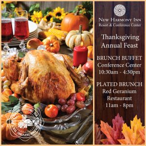 Thanksgiving Brunch Buffet at the New Harmony Inn Conference Center