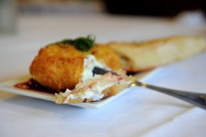 Fried Goat Cheese with Berry Compote